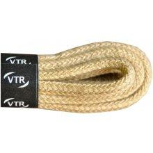 Kulaté béžové tenké bavlněné tkaničky 45 cm
