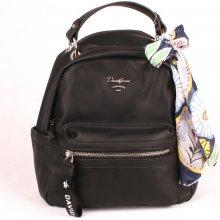da3005a4cc David Jones Paris malý městský batoh CM5048A se šátkem černý