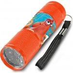 Euroswan Dětská hliníková LED baterka Hledá se Dory Oranžová Alu 9x2,5 cm