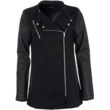 Glamorous Womens Wool PU Jacket bunda černá