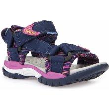 Geox Dívčí sandály Borealis modro-růžové 5494872241