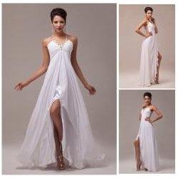 plesové šaty s průhlednými zády Bílé alternativy - Heureka.cz e889bce971