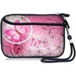 Pouzdro Huado Růžové motýl TX-25579
