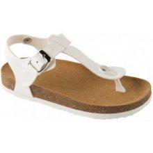 Scholl BOA VISTA KID dětské zdravotní pantofle s páskem bílé 95ae6f7738