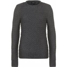 Firetrap Basket Knit Jumper Mens Charcoal