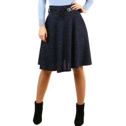 4c42a1f0879f Glara zimní áčková sukně žíhaný vzor tmavě modrá alternativy ...