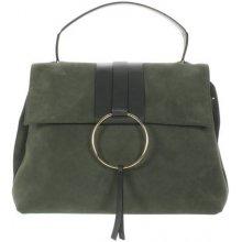 Gianni Chiarini Circle kabelka velurová kůže zelená