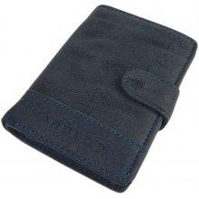 Harold's pánská kožená peněženka modrá 1184