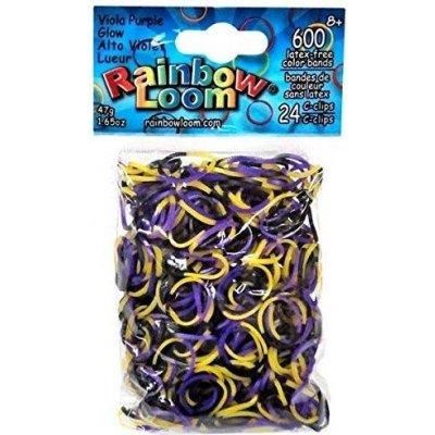 Rainobow Loom originálne gumičky svietiace bordovo-fialové 600 kusov od 6 rokov