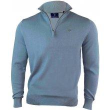 Gant Pánský svetr se zipem světle modrý