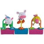 Jané chrastítko Trio sada 3 hraček na suchý zip domácí zvířátka