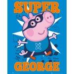 Posters Plakát, Obraz - Prasátko Pepa - Super George, (40 x 50 cm)