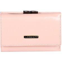 Lorenti Dámská kožená peněženka italská malá růžová 55282 NIC Salmon