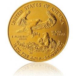 Eagle Česká mincovna Zlatá investiční 1 2 Oz mince 25 USD American stand 16,96 g