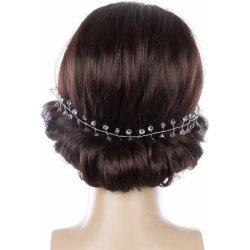 a65d90d4167 Svatební ozdoba do vlasů - čelenka Stříbrné krystalky do vlasů CV0087-12