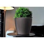 Samozavlažovací květináč GreenSun AQUAS průměr 43 cm, výška 40 cm, tmavě stříbrný