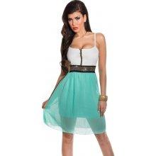 ebb59e217c3 KouCla letní i společenské šaty na ramínka tyrkysová