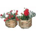 Dřevěný dekorativní 6-ti úhelný květináč malý WOOD R02696