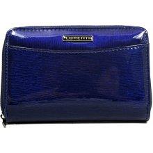Lorenti Dámská kožená italská modrá peněženka 01 12 SH Blue