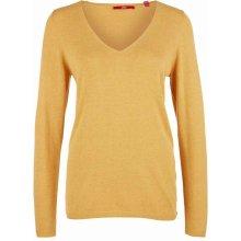 8a44e3f97dd s.Oliver dámský jemný svetr s véčkovým výstřihem okrový