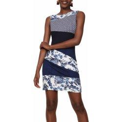 072a843b0e Dámské šaty Desigual šaty Vest Olivia modrobílá