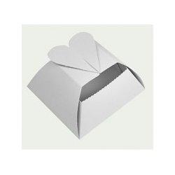 3582272b00 Krabička na svatební koláčky srdíčko - malinká papírová krabička na  svatební koláčky