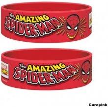 Náramek silikonový Spiderman Marvel červený šířka WR67160 CurePink