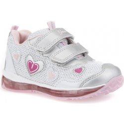 Geox Dívčí svítící tenisky Todo stříbrno-růžové dětská bota ... 06790465b2