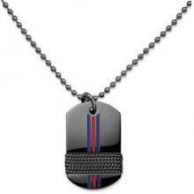 Tommy Hilfiger Černý pánský náhrdelník TH2700771