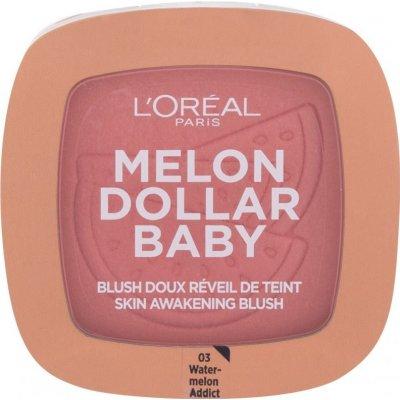 L'Oréal Paris Wake Up & Glow Melon Dollar Baby tvářenka pro všechny typy pleti 03 Waternelon Addict 9 g