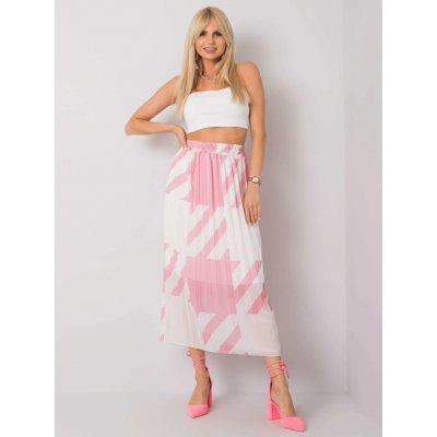 Skládaná sukně se vzory růžová