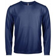 Tričko s dlouhým rukávem Námořní modrá