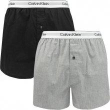 65e7c34de2 Calvin Klein trenýrky slim fit černo šedé 2 pack