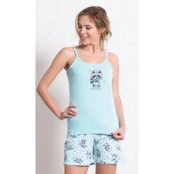d740dd3e3f4 Vienetta Secret Mýval dámské pyžamo šortky na ramínka meruňková od ...