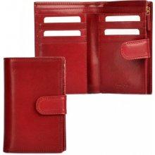 HELLIX Dámská kožená peněženka P-1502 vínová