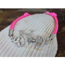 Lamb Designs náramek Crystal Bicycle růžová Blue 0014J