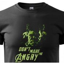 Bezvatriko.cz 0314 Pánské tričko Hulk 2 z týmu Avengers Černá