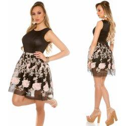 ead55c9e8dfc KouCla dámské koktejlové šaty se síťovinou a výšivkou černá od 1 129 ...