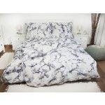 Písecké lůžkoviny bavlna povlečení Mramor šedý 200x220 2x 50x70