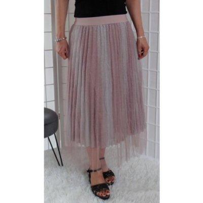 Tylová sukně s blyštivými efekty Vionnetta