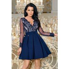 Dámské společenské krátké šaty Leena modrá 440b437e4f