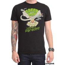 CurePink Pánské tričko Green Day: Welcome to Paradise černé bavlna