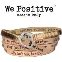 Náramek We Positive Wrap v barvě růžového zlata s nápisy 121