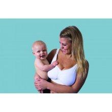 493ab201d Carriwell podprsenka ke kojení bezešvá Push up s gelovou kosticí bílá