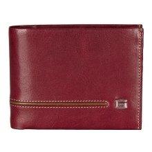 GIUDI pánská červená kožená peněženka 7004 GIUDI