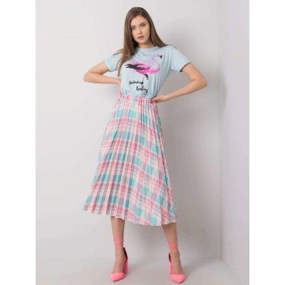 Mátová kostkovaná skládaná sukně