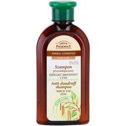 Green Pharmacy Hair Care Birch Tar & Zinc šampon proti lupům (0% Parabens, Artificial Colouring, SLS, SLES) 350 ml