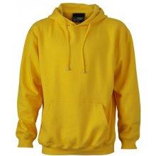 7468a40eec3 James   Nicholson Pánská mikina Hooded Sweat Žlutá sluneční