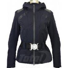 Dámská lyžařská bunda Emporio Armani s kapucí a páskem černá 281156
