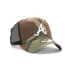 New Era League Essential Trucker Atlanta Braves 9FORTY Woodland Camo White  Snapback camo   bílá 986567e9f170